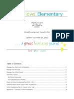 school development report and plan - november 21 2013