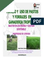 Usos de Pastos y Forrajes en La Ganaderia Tropical