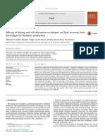 Biocombustibles Eficacia de Secado y Técnicas de Confusión Celular en La Recuperación de Lípidos a Partir de Microalgas Para La Producción de Biodiesel