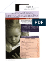 2T Licao8 Educacao Crista Responsabilidade Dos Pais