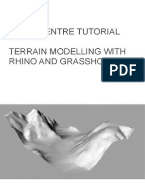 Terrain Model With Rhino and Grasshopper | Rendering