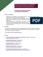 Programa Gestión Financiera