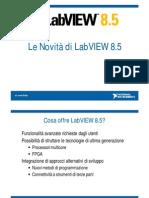 Le novità di LabVIEW 8.5