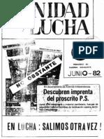 Unidad y Lucha 058 Junio 1982