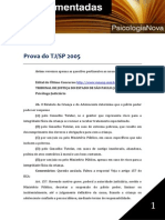 Psicologia Nova TJ SP 2005 Prova Comentada