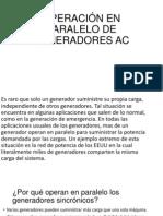 Operación en Paralelo de Generadores Ac