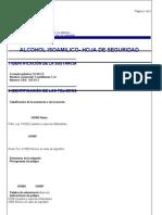 Alcohol Isoamilico - Msds