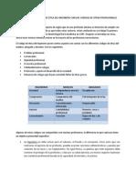Comparacion Del Codigo de Etica Del Ingeniero Con Los Codigos de Otros Profesionales