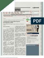 La Jornada_ Canonización de Juan Pablo II Genera Preocupación en ONG