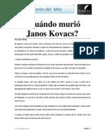 Cuando Murio Janos Kovacs