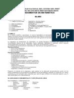 Syllabus (Ciclo Normal 2007-II) - Fundamentos de Matemática