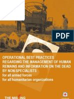 Operational best practices regarding the management of human remains and information on the dead by non-specialists