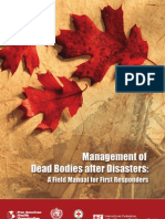 Management of dead bodies after disasters