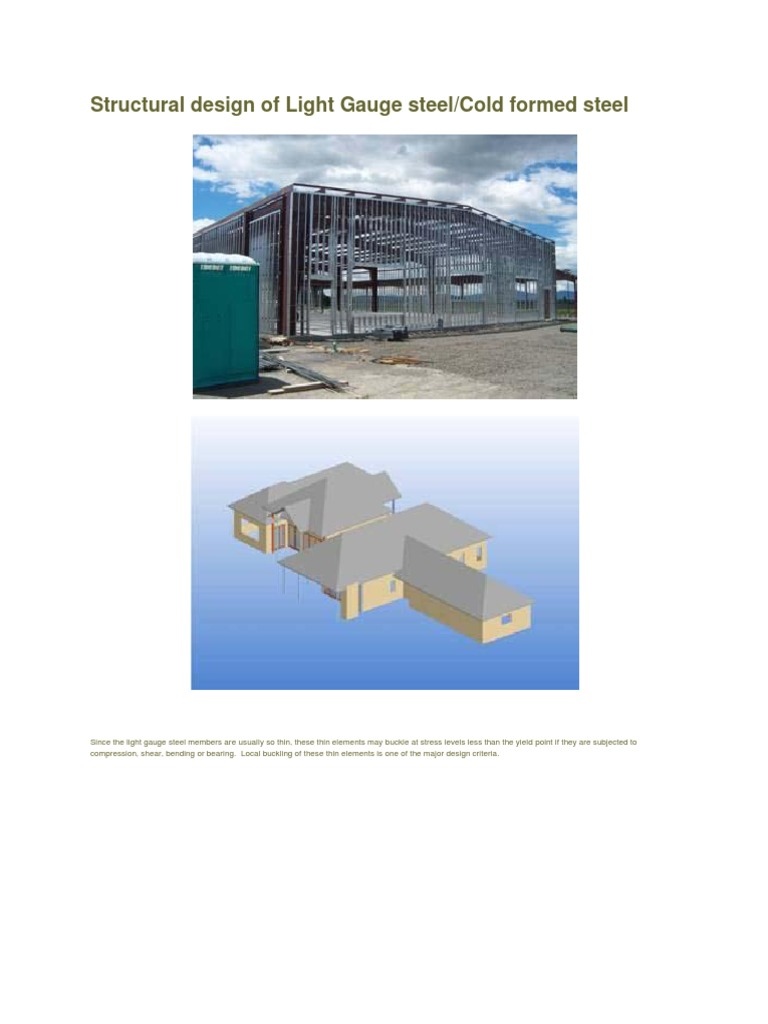 Structural Design Of Light Gauge Steel Framing Construction Truss