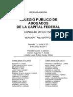 Acta Consejo Directivo 09-06-2011