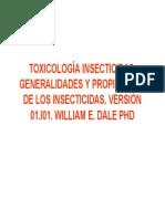 Toxicología Insecticidas. Generalidades y Propiedades de Los Insecticidas. Version 01.i01. Willia
