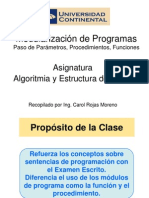 ALGOR ES DATOS Semana4 Modularizacion-FuncionProcedimiento