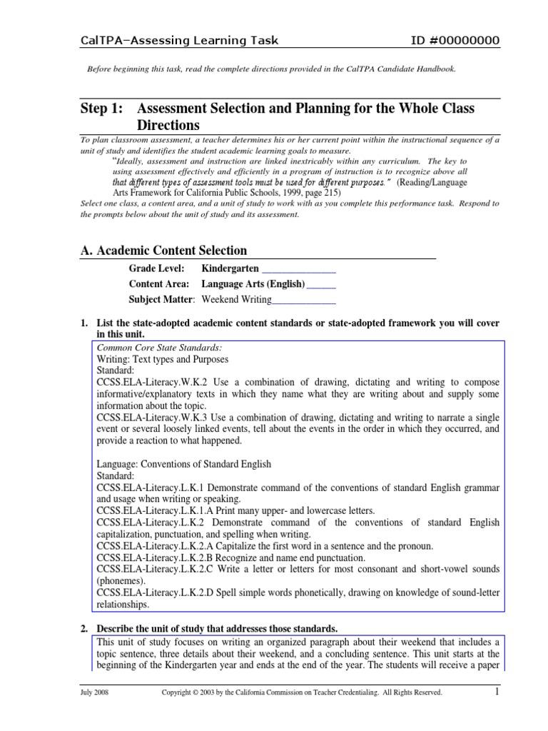 Nicole Tpa 3 Final Educational Assessment Rubric Academic