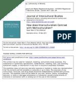 Interculturalism Multiculturalism Debate