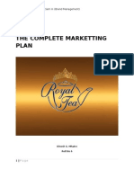 Royal Tea - Complete Marketing Plan for Tea