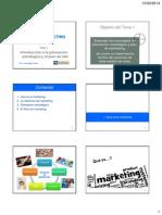 PLAN de MKT - Tema 1 - Introducción a La Planeación Estratégica y Al Plan de Mkt