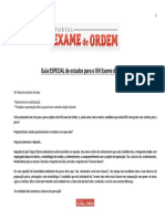 Original Guia Especial de Estudos Para o XIII Exame de Ordem - 1ª Fase