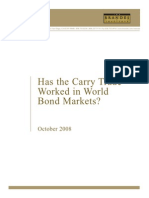 Has the Carry Trade Worked in World Bond Markets