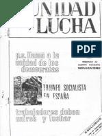 Unidad y Lucha 062 Noviembre 1982