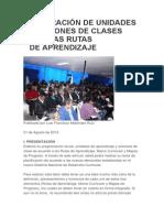 Elaboración de Unidades y Sesiones de Clases Con Las Rutas De