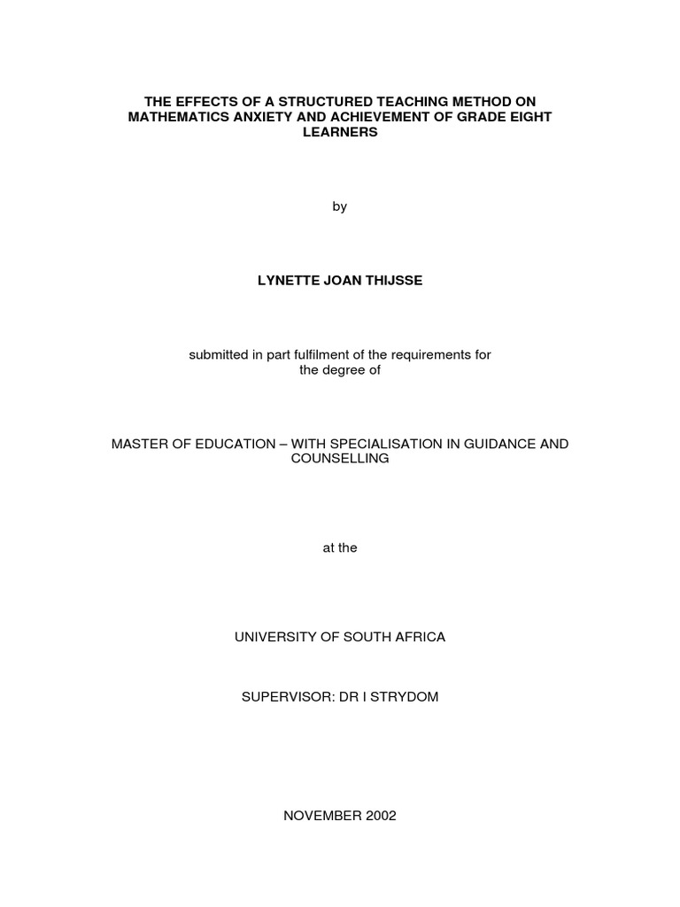 Master thesis mathematics
