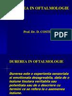 Durerea in Oftalmologie an 3