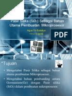 Pasir Silika Sebagai Bahan Utama Pembuatan Mikroprosesor