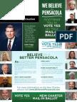 Believe in a Better Pensacola mailer