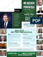Believe in a Better Pensacola mailer