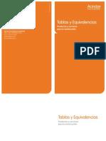 Tablas y Equivalencias