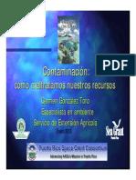 Contaminacion a Nuestros Recursos Pto Rico