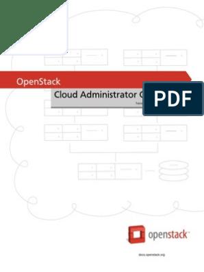 Admin Guide Cloud | Open Stack | Cloud Computing