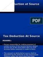 Tax Deduction at Source