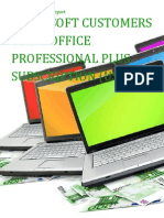 Microsoft Customers using Office Professional Plus Subscription (User SL) - Sales Intelligence™ Report
