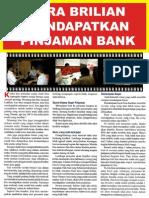 Cara Brilian Mendapatkan Pinjaman Bank