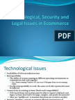 Technological, Security and Legal Issues in Ecommerce
