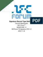 NFCForum TS Signature RTD 1.0