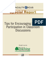 Tips for Encouraging Student in Classroom