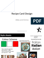 Recipe Card Design Pro-Forma