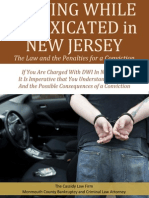 Driving While Intoxicated in New Jersey