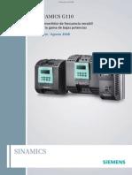 Catalogo SINAMICS G110 Siemens