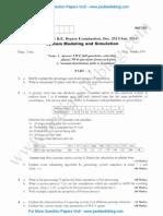 System Modeling & Simulation Jan 2014 (2006 Scheme)