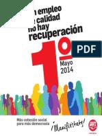 1 de Mayo 2014 - Sin Empleo de Calidad No Hay Recuperación