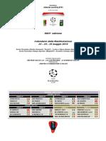 Calendario Europe Cup U12 - Edizione 2014