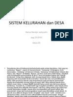 Sistem Kelurahan Dan Desa
